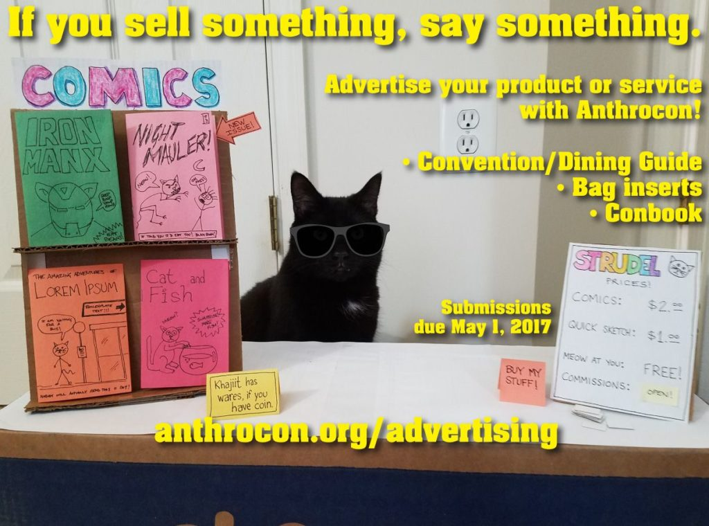Anthrocon 2017 advertising flyer