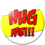"Snerks'n'Quirks ""Hug Me"" button"