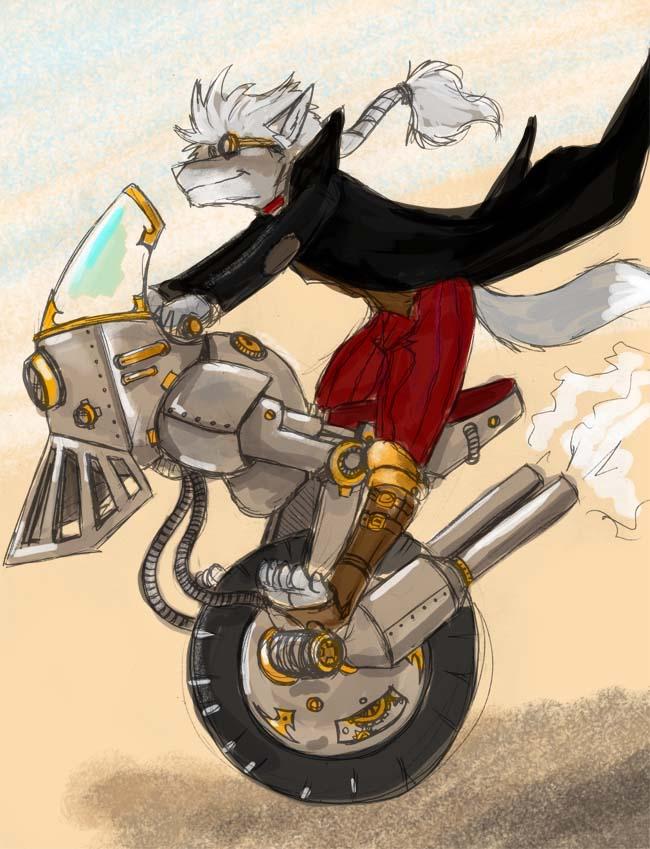 Steamcycle by Leo Magna, via FurAffinity