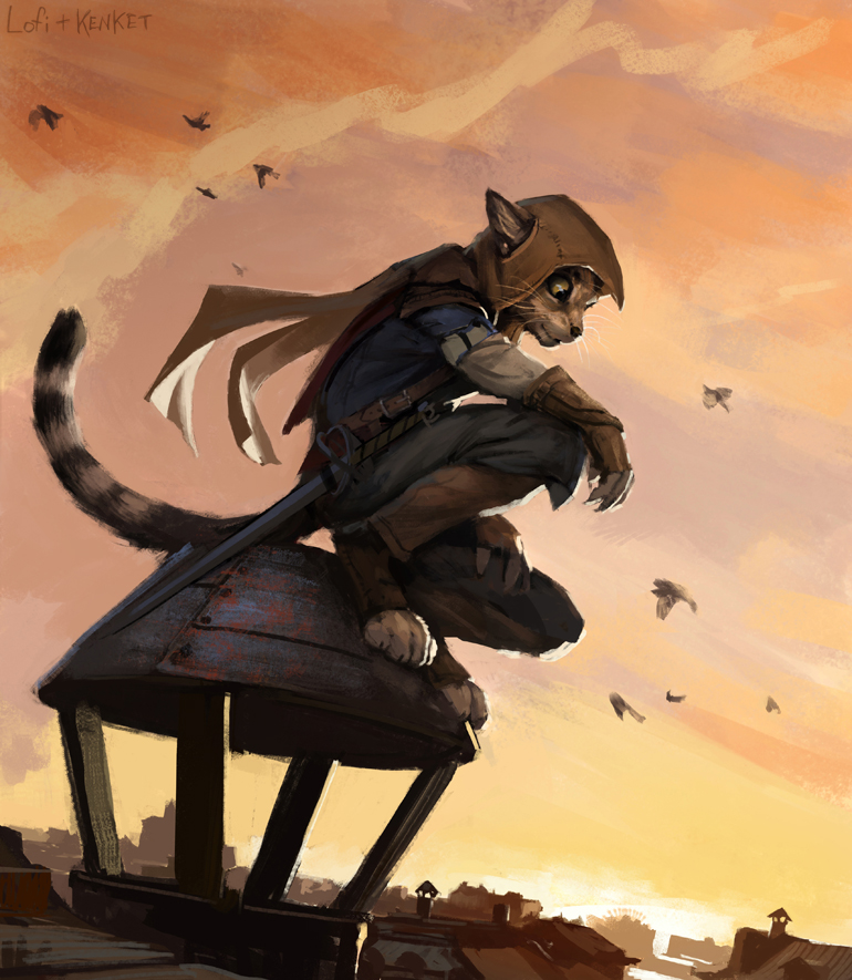 Assassin's Kitty by Hax, via FurAffinity