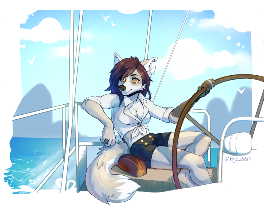 Open Water by KaityCuddle, via FurAffinity