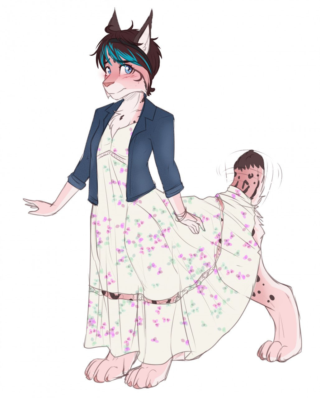 Maxi Dress by Cat_Named_Fish, via FurAffinity